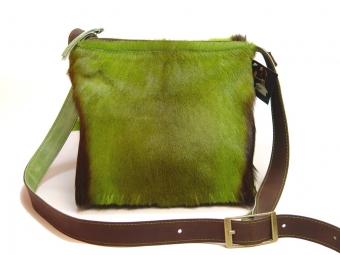 Springbockfell Tasche Postbag Grün