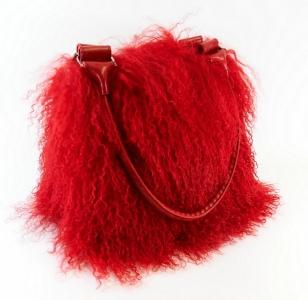 Tibetlammtasche Rot