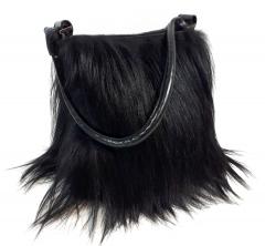Neu! Handtasche aus Langhaar-Ziegenfell